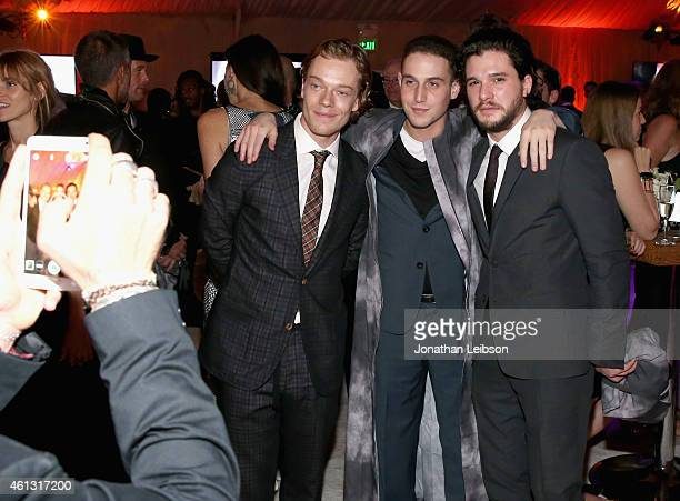 Actors Alfie Allen and Kit Harington attend the 8th Annual HEAVEN Gala presented by Art of Elysium and Samsung Galaxy at Hangar 8 on January 10 2015...