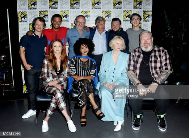 Actors Alfie Allen Jacob Anderson Liam Cunningham Conleth Hill John Bradley and Isaac Hempstead Wright Sophie Turner Nathalie Emmanuel Gwendoline...