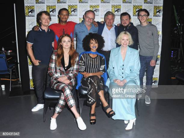 Actors Alfie Allen Jacob Anderson Liam Cunningham Conleth Hill John Bradley and Isaac Hempstead Wright Sophie Turner Nathalie Emmanuel and Gwendoline...