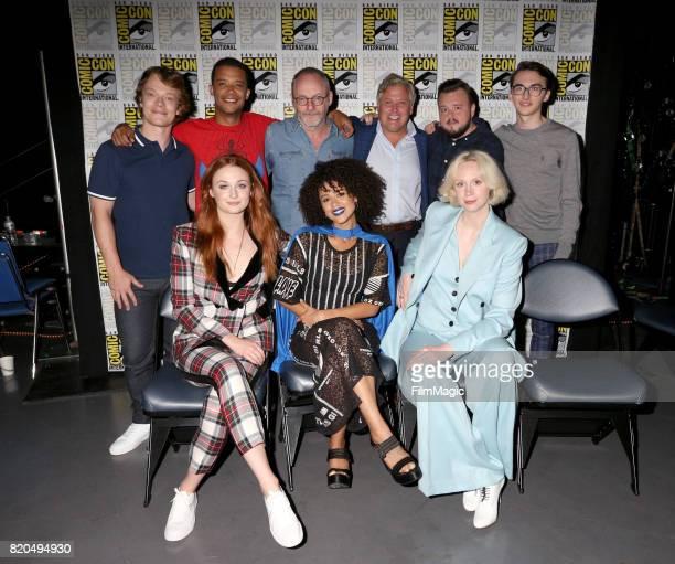 Actors Alfie Allen Jacob Anderson Liam Cunningham Conleth Hill John Bradley Isaac Hempstead Wright Sophie Turner Nathalie Emmanuel and Gwendoline...