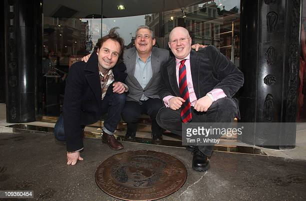 Actors Alfie Boe Matt Lucas and show producer Cameron Mackintosh attend as a plaque is unveiled to commemorate 'Les Miserables' as the longest...