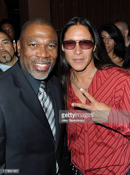 Actors Alfonso Freeman and Chris Mora attend the 'Fashion On The Real' charity event at La Fonda Supper Club on June 30 2011 in Los Angeles California