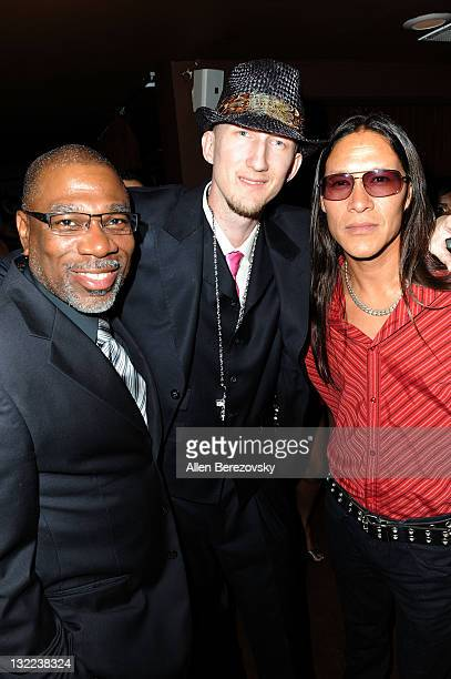 Actors Alfonso Freeman Eric Zuley and Chris Mora attend the 'Fashion On The Real' charity event at La Fonda Supper Club on June 30 2011 in Los...