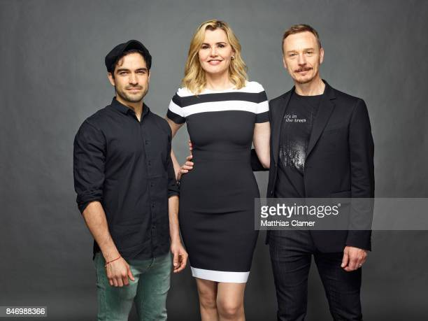 Actors Alfonso Herrera Geena Davis and Ben Daniels from 'Exorcist' are photographed for Entertainment Weekly Magazine on July 22 2016 at Comic Con in...