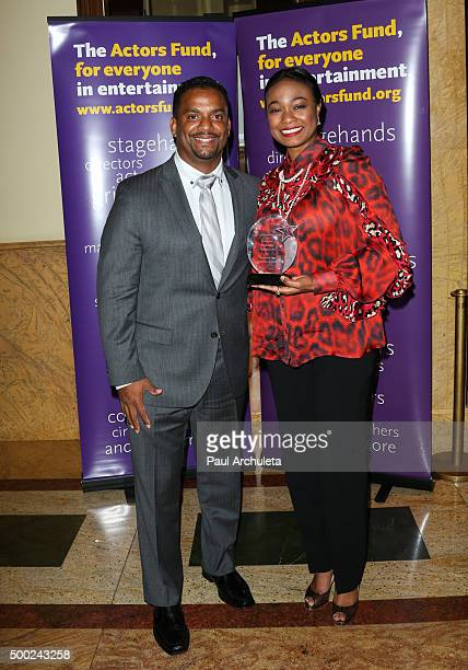 Actors Alfonso Ribeiro and Tatyana Ali attend The Actors Fund's 2015 Looking Ahead Awards at Taglyan Cultural Complex on December 3 2015 in Hollywood...
