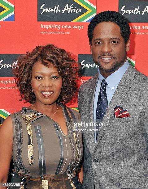 Actors Alfre Woodard and Blair Underwood attend the 2014 Ubuntu Awards at Gotham Hall on April 1 2014 in New York City