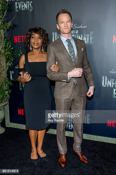Actors Alfre Woodard and Neal Patrick Harris attend Lemony Snicket's A Series Of Unfortunate Events New York Screening at AMC Lincoln Square Theater...