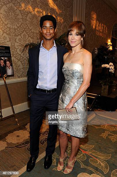 Actors Alfred Enoch and Frances O'Connor attend the BAFTA Los Angeles TV Tea Party presented By Jaguar and Mulberry at The Four Seasons Hotel on...