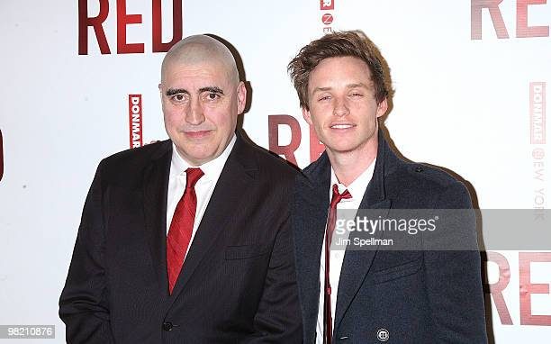 Actors Alfred Molina and Eddie Redmayne attend the opening night party for RED on Broadway at Gotham Hall on April 1 2010 in New York City
