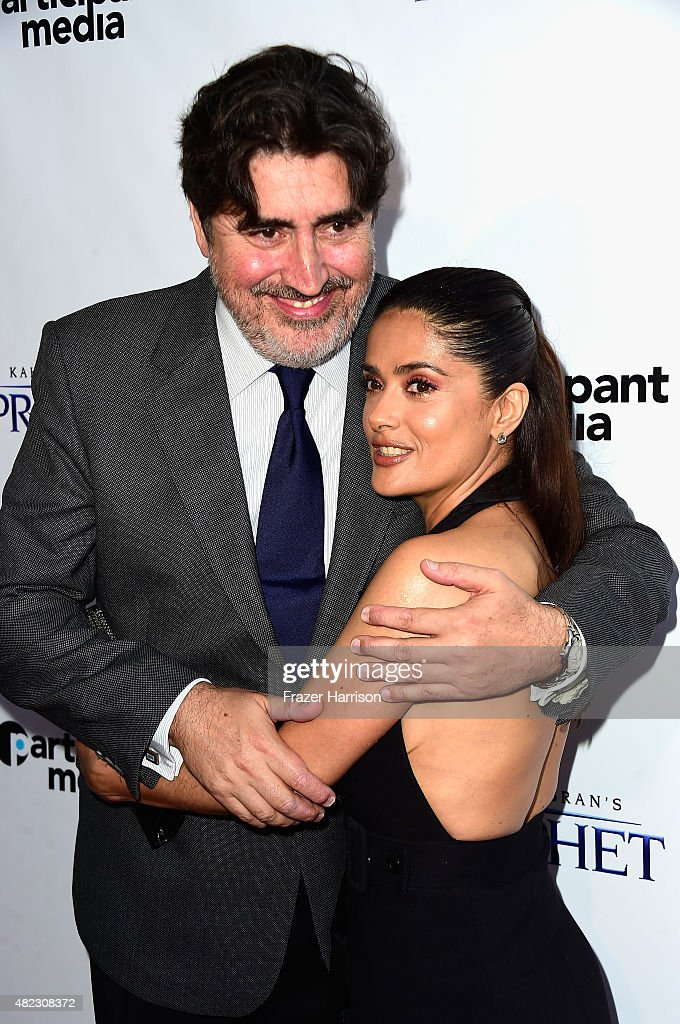 Actors Alfred Molina and Salma Hayek arrive at the Screening of GKIDS' 'Kahlil Gibran's The Prophet' at Bing Theatre At LACMA on July 29, 2015 in Los Angeles, California.