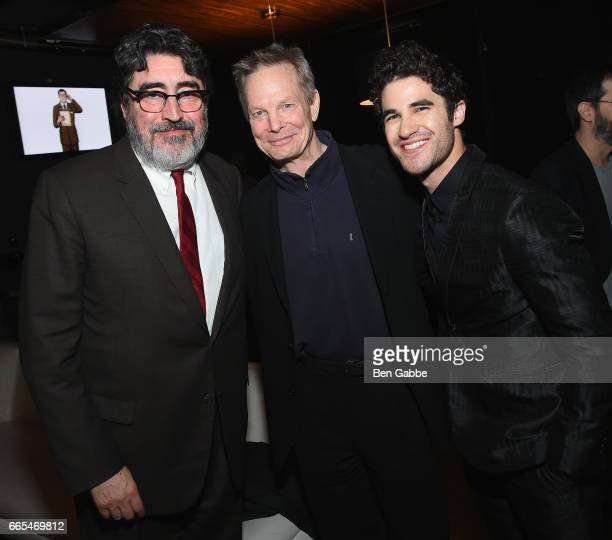 Actors Alfred Molina Bill Irwin and Darren Criss attend 8th Annual FX AllStar bowling party at Lucky Strike on April 6 2017 in New York City