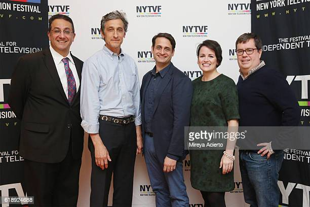 Actors Ali Farahnakian David Pasquesi Ed Herbstman Annie Donley and founder/executive director of New York Television Festival Terrence Gray attend...