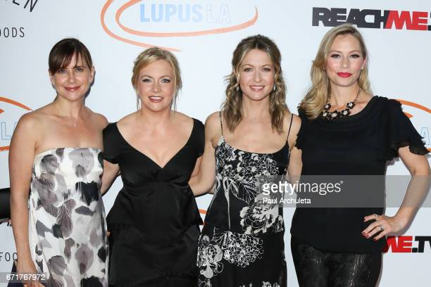 Actors Ali Hillis Melissa Joan Hart Meredith Monroe and Kellie Martin attend the Lupus LA's 2017 Orange Ball Rocket To A Cure at The California...