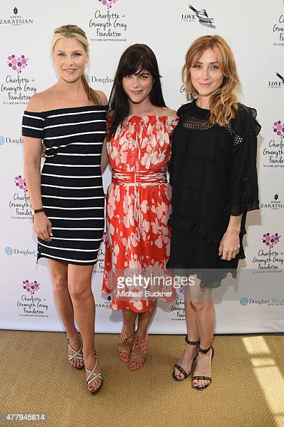 Actors Ali Larter Selma Blair and Sasha Alexander attended a tea party to support the Charlotte Gwenyth Gray Foundation to cure Batten Disease on...