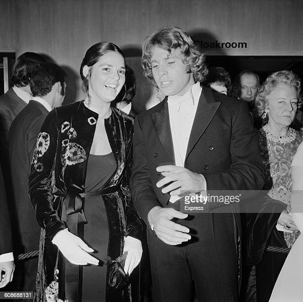 Actors Ali MacGraw and Ryan O'Neal at the premiere of the film 'Love Story' at the Odeon Leicester Square, London, 8th March 1971. They play the two...