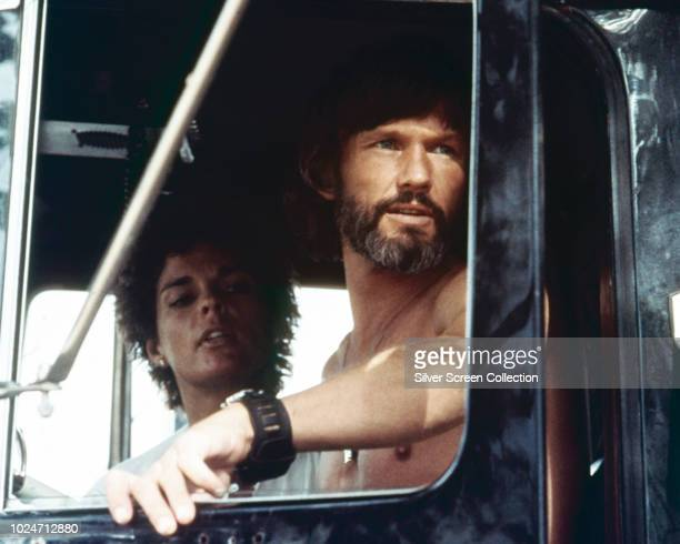 Actors Ali MacGraw as Melissa and Kris Kristofferson as Martin 'Rubber Duck' Penwald in the trucking film 'Convoy', 1978.