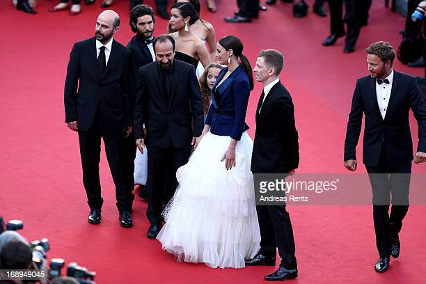 Actors Ali Mosaffa and Tahar Rahim actress Sabrina Ouazani director Asghar Farhad actresses Jeanne Jestin and Berenice Bejo and producer Alexandre...