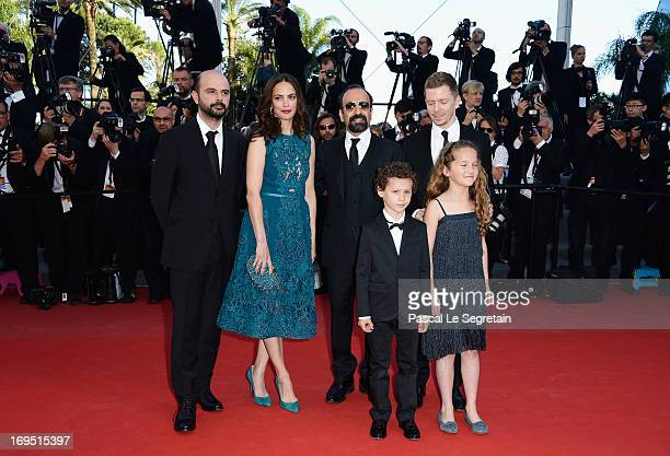 Actors Ali Mosaffa Berenice Bejo Elyes Aguis Jeanne Jestin director Asghar Farhadi and producer Alexandre MalletGuy of 'Le Passe'attend the 'Zulu'...