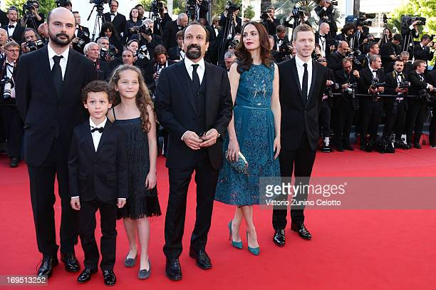 Actors Ali Mosaffa Elyes Aguis Jeanne Jestin director Asghar Farhad actor Berenice Bejo and producer Alexandre MalletGuy of 'Le Passe' attend the...