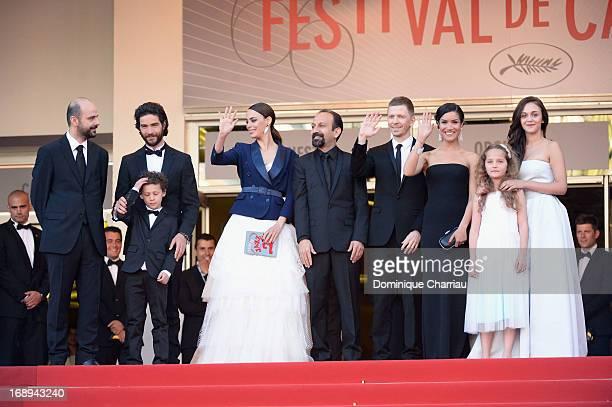 Actors Ali Mosaffa, Elyes Aguis, Tahar Rahim, Berenice Bejo, director Asghar Farhad, producer Alexandre Mallet-Guy, actresses Jeanne Jestin, Sabrina...