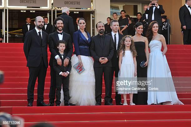 Actors Ali Mosaffa, Elyes Aguis, Tahar Rahim, Berenice Bejo, director Asghar Farhadi, producer Alexandre Mallet-Guy, actresses Jeanne Jestin, Sabrina...