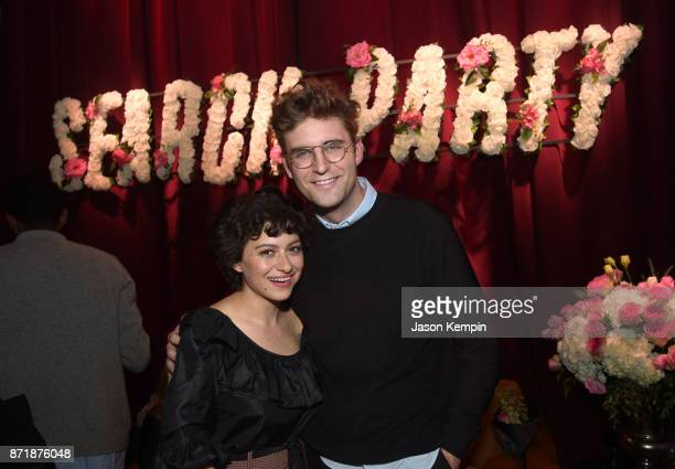 Actors Alia Shawkat and John Reynolds attend the TBS Comedy Festival 2017 'Search Party' Presents The Guilty Party on November 8 2017 in New York...
