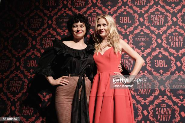 Actors Alia Shawkat and Meredith Hagner attend the TBS Comedy Festival 2017 'Search Party' Presents The Guilty Party on November 8 2017 in New York...