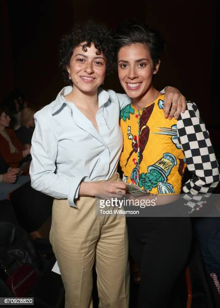 Actors Alia Shawkat and Roberta Colindrez attend the red carpet premiere of Amazon's forthcoming series 'I Love Dick' at The Linwood Dunn Theater...