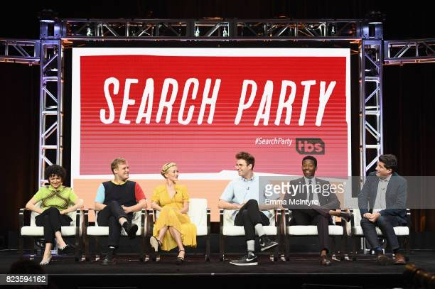 Actors Alia Shawkat John Early Meredith Hagner John Reynolds Brandon Micheal Hall and Executive producer Michael Showalter of 'Search Party' speak...