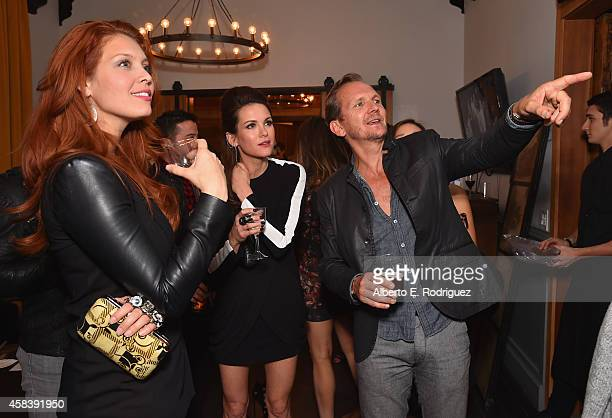Actors Aliana Huffman Danneel Harris and Sebastian Roche attend the CW's Fan Party to Celebrate the 200th episode of Supernatural on November 3 2014...