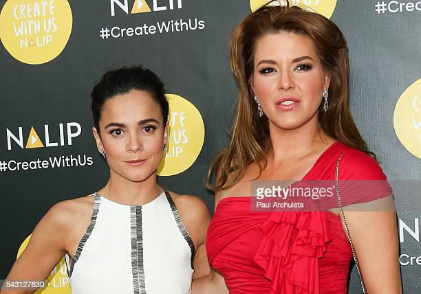 Actors Alice Braga and Alicia Machado attend the NALIP 2016 Latino Media Awards at The Dolby Theatre on June 25 2016 in Hollywood California