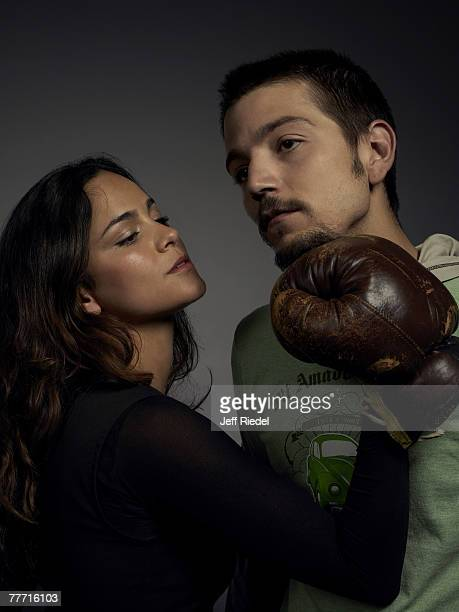Actors Alice Braga and Diego Luna are photographed for InStyle Magazine on January 20 2006 at the Sundance Film Festival in Park City Utah