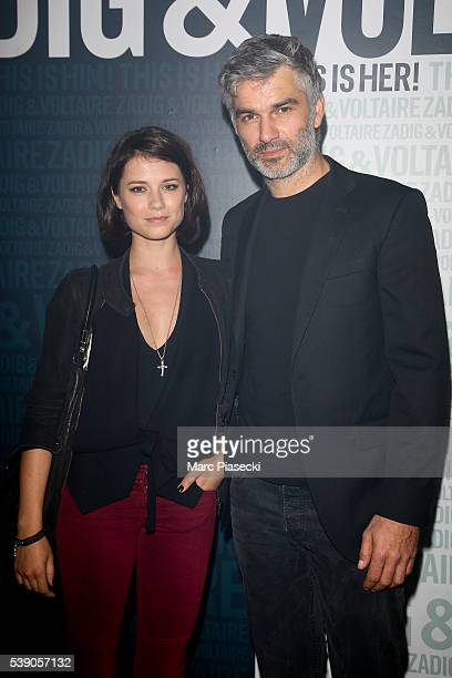 Actors Alice Dufour and Francois Vincentelli attend the 'Zadig Voltaire' new perfume launch on June 9 2016 in Paris France