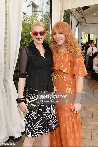 Actors Alice Evans and Charlotte Tilbury attend NETAPORTER Celebrates Women Behind The Lens at Chateau Marmont on February 26 2016 in Los Angeles...