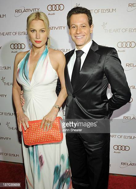 Actors Alice Evans and Ioan Gruffudd arrive at Audi presents The Art of Elysium's 5th annual HEAVEN at Union Station on January 14, 2012 in Los...