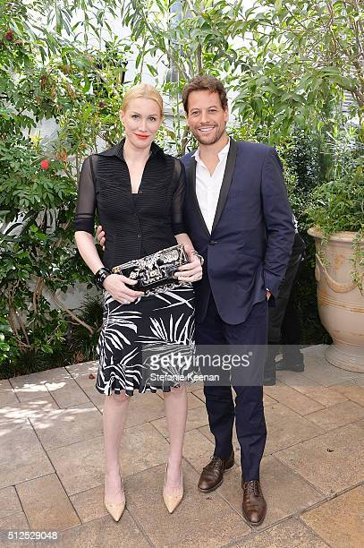 Actors Alice Evans and Ioan Gruffudd attend NETAPORTER Celebrates Women Behind The Lens at Chateau Marmont on February 26 2016 in Los Angeles...