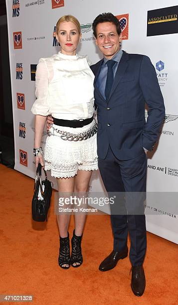 Actors Alice Evans and Ioan Gruffudd attend the 22nd Annual Race To Erase MS Event at the Hyatt Regency Century Plaza on April 24 2015 in Century...