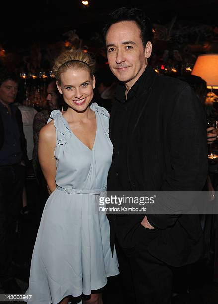Actors Alice Eve and John Cusack attend 'The Raven' New York Red Carpet Screening After Party Presented By DeLeon Tequila at The VAULT on April 16...