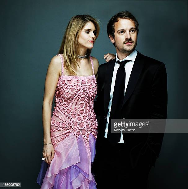 Actors Alice Taglioni Jocelyn Quivrin are photographed for Self Assignment on February 21 2008 in Paris France