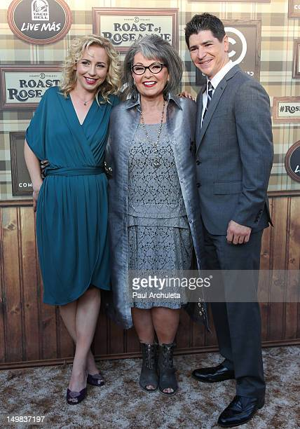 Actors Alicia Goranson Roseanne Barr and Michael Fishman attend the Comedy Central Roast of Roseanne Barr at Hollywood Palladium on August 4 2012 in...