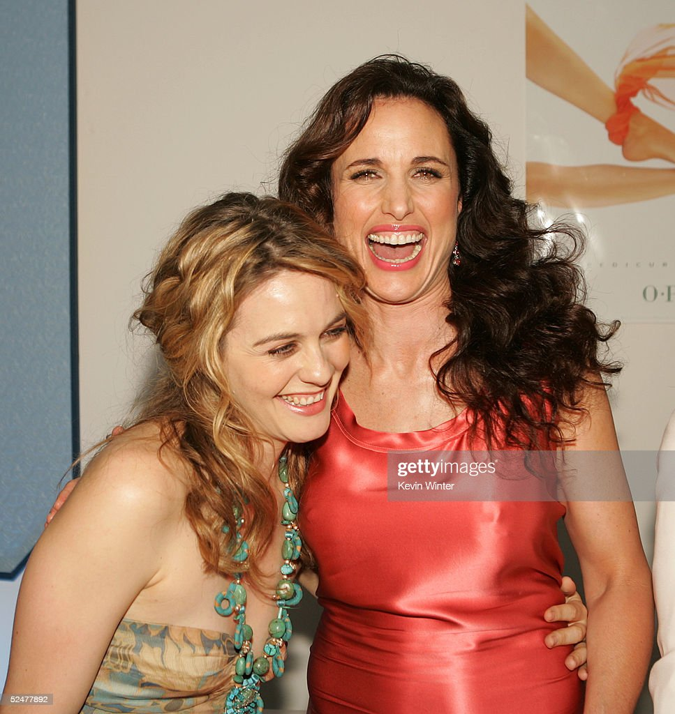 Actors Alicia Silverstone L And Andie MacDowell Talk At The Afterparty For Premiere