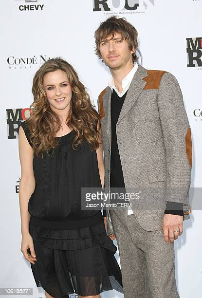Actors Alicia Silverstone and Christopoher Jarecki arrive at Conde Nast Media Group's 2007 Movies Rock at the Kodak Theatre on December 2 2007 in...
