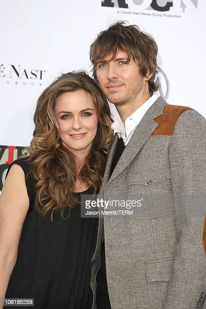 Actors Alicia Silverstone and Christopoher Jarecki arrives at Conde Nast Media Group's 2007 Movies Rock at the Kodak Theatre on December 2 2007 in...