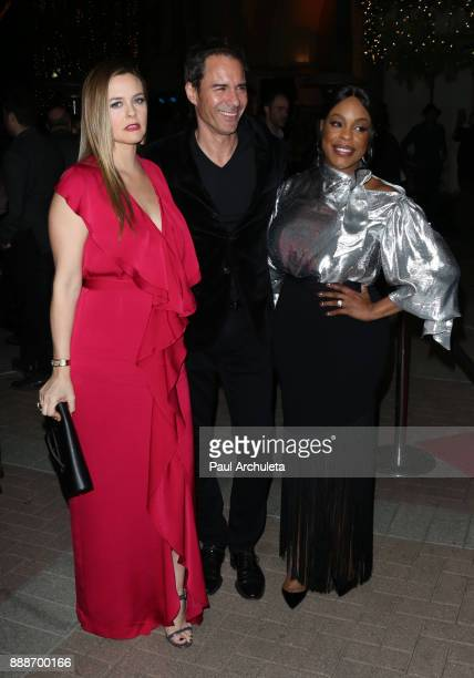 Actors Alicia Silverstone Eric McCormack and Niecy Nash attend theÊGolden Globes 75th Anniversary special screening and HFPA holiday receptionÊat...
