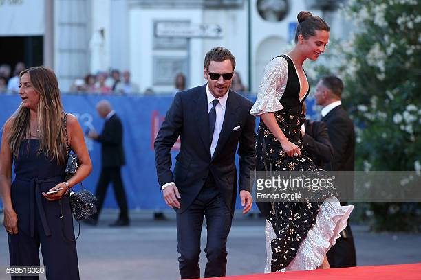 Actors Alicia Vikander and Michael Fassbender attend the premiere of 'The Light Between Oceans' during the 73rd Venice Film Festival at Sala Grande...