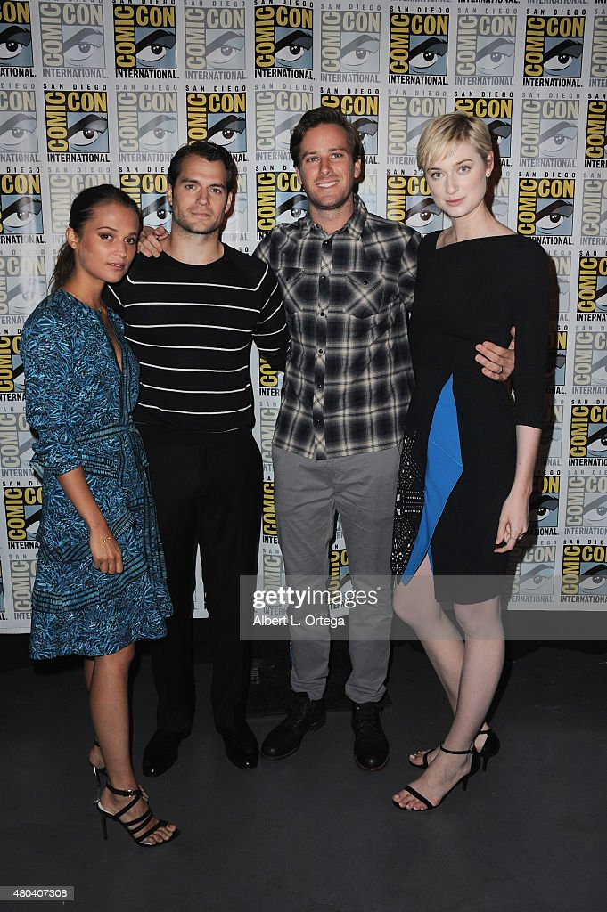 Actors Alicia Vikander, Henry Cavill, Armie Hammer, and Elizabeth Debicki attend the Warner Bros. 'The Man from U.N.C.L.E.' presentation during Comic-Con International 2015 at the San Diego Convention Center on July 11, 2015 in San Diego, California.