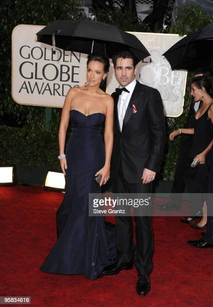Actors Alicja Bachleda and Colin Farrell arrive at the 67th Annual Golden Globe Awards at The Beverly Hilton Hotel on January 17 2010 in Beverly...