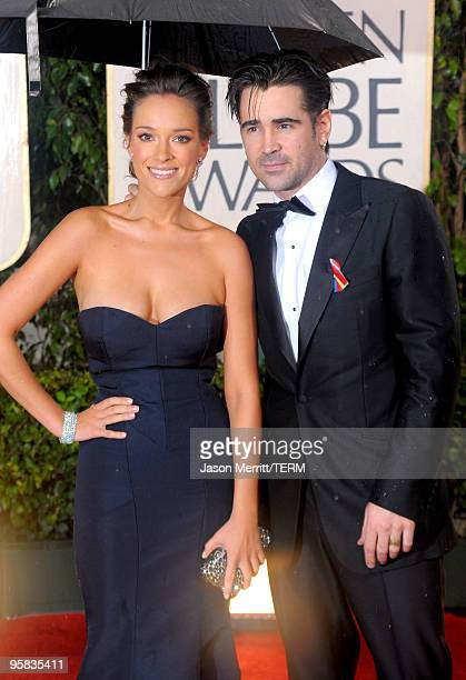 Actors Alicja Bachleda and Colin Farrell arrive at the 67th Annual Golden Globe Awards held at The Beverly Hilton Hotel on January 17 2010 in Beverly...