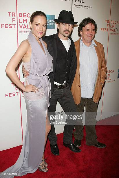 Actors Alicja Bachleda Colin Farrell and director Neil Jordan attend the Ondine premiere during the 9th Annual Tribeca Film Festival at the Tribeca...