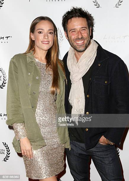 Actors Alicja BachledaCurus and Coby Ryan McLaughlin attend the US premiere of the feature film Polaris at ArcLight Cinemas on December 6 2016 in...